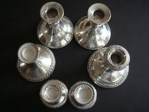 Scrap Weighted 925 Sterling Silver Lot Of 6 Pcs 1131 Grams Duchin Alvin Mfg