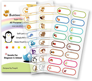 Baby Bottle Labels For Daycare school Waterproof Write on Self laminating Name