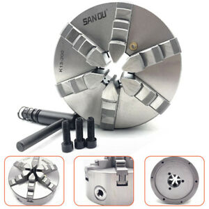 K13 200 Steel Lathe Chuck 6 Jaw 8 Self Centering Jaws For Drilling Milling Cnc