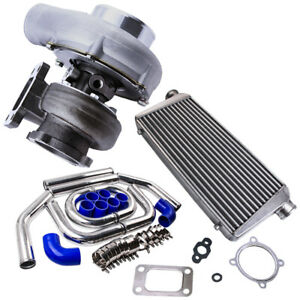 Gt35 Gt3582 Turbo Kit T3 Ar 70 63 Turbo Charger With Intercooler Pipe Set