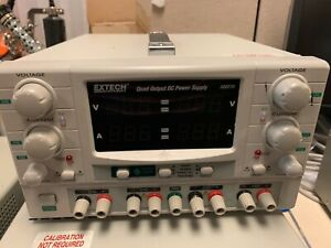 Used Extech 382270 Quad Output Dc Power Supply