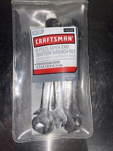Craftsman 8 Piece Metric Open End Ignition Wrench Set 9 4308 Free Shipping
