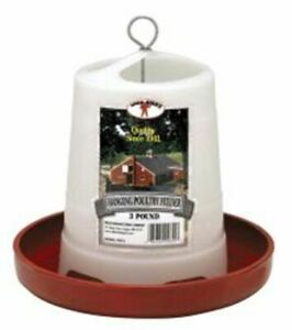 Poultry Chicken 3 Pound Hanging Feeder Plastic Feed Saver
