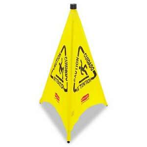 Rubbermaid Commercial Three sided Caution Wet Floor Safety Cone 086876165968