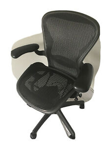 Herman Miller Aeron Classic Size B Fully Optioned Chair Graphite
