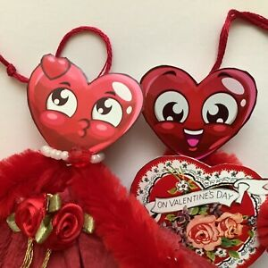 Paper Doll Vintage Valentines Ornaments Feather Tree Gift Tags Heart Item 23