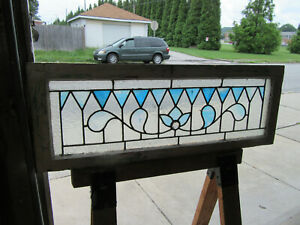 Antique Stained Glass Transom Window 41 25 X 15 Architectural Salvage