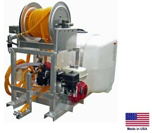 Sprayer Commercial Skid Mounted 9 5 Gpm 580 Psi 100 Gallon Tank Ereel