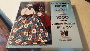 SUNSOUT JIGSAW PUZZLE GRANDMA#x27;S HANDS BY ANNIE LEE 1000PC NEW $19.99
