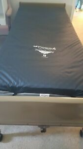 Electric Hospital Bed With Mattress Cover Overlay