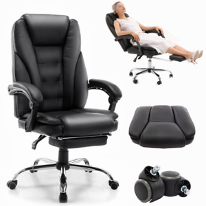 High Back Leather Swivel Office Chair Executive Office Desk Task Computer Chair