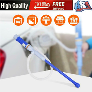 Electric Liquid Transfer Pump Portable Battery Operated Water Fuel Siphon Pump