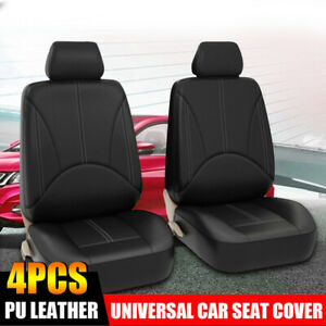 Car Seat Covers Pu Leather 2 Front Cushion Universal Protector Car Truck Suv