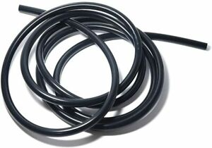 10ft Universal 3mm 1 8 Vacuum Air Silicone Hose Line Tube 3mm Thickness Black