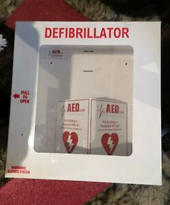 Aed Defibrillator Metal Cabinet Box And Sign