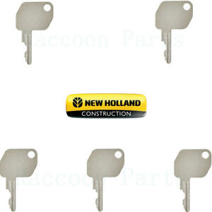 5 New Holland Backhoe Harvesters Ignition Keys And Some Combine Tractor