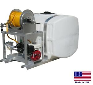 Sprayer Commercial Skid Mounted 15 Gpm 350 Psi 5 5 Hp 200 Gallon Tank