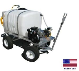 Sprayer Commercial Trailer Mounted 200 Gallon Tank 5 Hp 5 Gpm 275 Psi