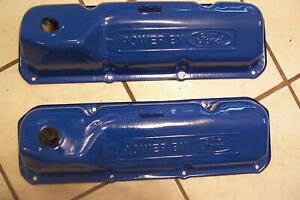 1969 Up Power By Ford Logo 351m 351c 400 Valve Covers F250 Mustang Torino