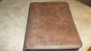 Day timer Brown Marble Synthetic Desk Planner 7 ring Binder