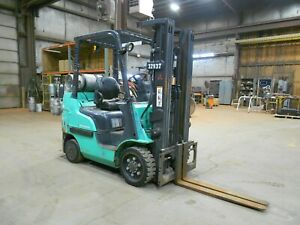 2012 Mitsubishi Fgc25n 5 000 5000 Cushion Tired Forklift W 3 Stage Ss