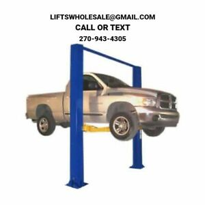 New Triumph 9 000 Lbs 2 Post Auto Lift Clearfloor Model 3 Stage Arms 220v