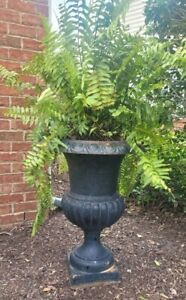 Vintage Antique Cast Iron French Garden Planter Urn Large 30 5 Free Shipping