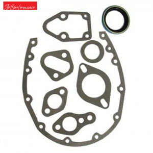 Timing Cover Gasket Set For Chevrolet Small Block V8 Sbc 1959 91 283 350 Fi