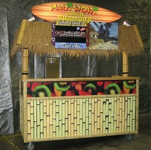 Concession Carts Smoothies Coffee Espresso Tiki Bar Food Stand Sink Hot Water