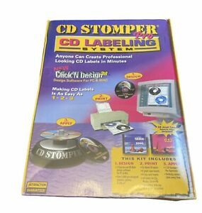 Cd Stomper Pro Cd Labeling System Nos 2002 Computer Software New Factory Sealed