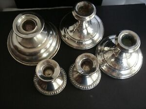 Scrap Weighted 925 Sterling Silver Lot Of 5 Pcs 1150 Grams Lg Balfour Unmarked