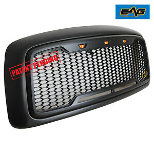 Eag Replacement Grill Upper Mesh Grille Fit For 02 05 Dodge Ram 1500 2500 3500