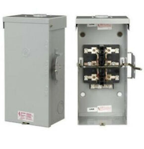 General Electric Ge Tc10324r 200a Manual Transer Switch 240v Double Throw