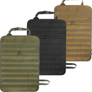 Tactical Car Seat Back Organizer Molle Panel Vehicle Protector Cover Storage Bag