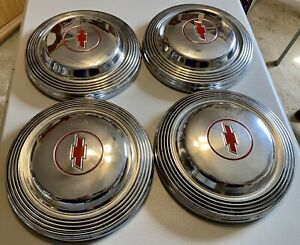 1966 Chevy Impala Ss L 72 427 396 Dog Dish Poverty Hubcaps Red 66 Bel Air