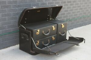 Original 1920 S 1930 S Watts Morehouse Steelwood Luggage Trunk Ford Packard Gm