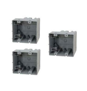 Madison Msb2g Two Gang Device Box With Depth Adjustable Heavy Duty 42lb 3 pack