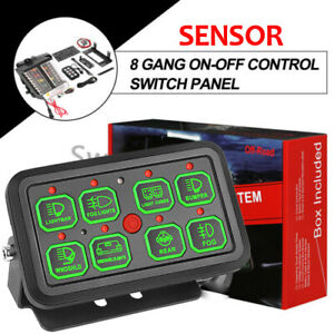 8 Gang Switch Panel On Off Led Light Circuit Control For Led Work Light Bar Car