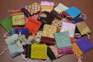 12 Pcs Handmade Drawstring Jewelry Gift Pouches Bags 2 X 3 8010