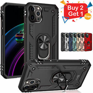 For iPhone 13 12 11 Pro MAX XR Case Kickstand Shockproof Ring Holder Hard Cover $6.58