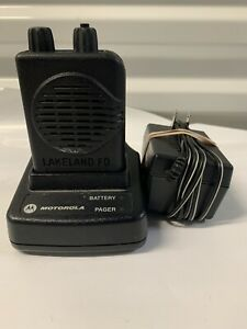 Motorola Minitor V 45 48 9 Mhz Low Band Stored Voice Fire Ems Pager With Charger