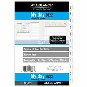 2022 Daily Planner Refill By At a glance 5 1 2 X 8 1 2 12010 Day timer Size