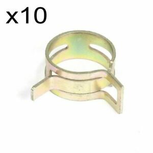 10pcs 28mm 1 125 Id Spring Band Clip Action Silicone Vacuum Hose Clamp 1 1 8