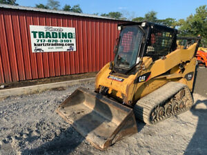 2008 Caterpillar 257b2 Compact Track Skid Steer Loader W Cab 2 Speed 3300hrs