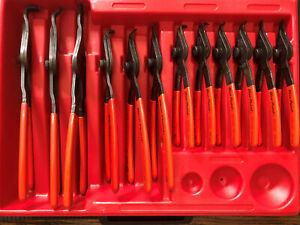 Blue Point Pr43 12 Piece Retaining Ring Pliers Set With Case