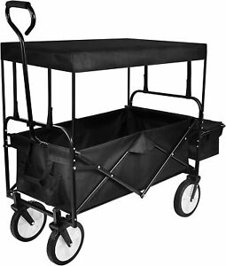 Yssoa Rolling Collapsible Garden Cart Outdoor Camping Wagon Utility