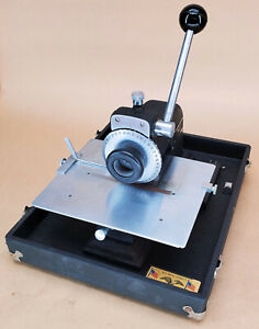 Perma Products Co Stamping Machine Model 4 Dog Tags Id Cards Metal Press Works