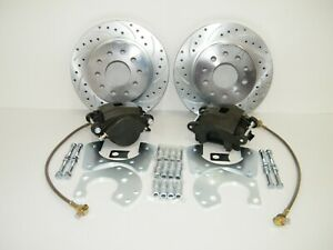 Ford 9 Inch Rear Disc Brake Conversion Kit Drilled Slotted Rotors Ford Cars