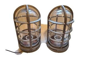 Pair Of Vintage Keen Stonco Explosion Proof Lights Heavy Duty