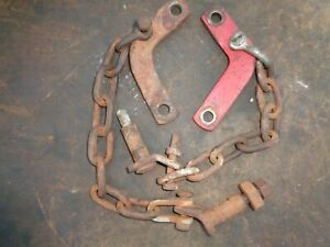 Ford Tractor 600 800 601 801 3pt Sway Chains W mount Brackets Left Right